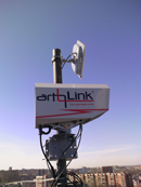 Artolink FSO (Free Space Optics) installation photo